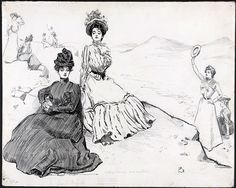 """The Gibson Girl as the """"New Woman"""" - The Gibson Girl's America: Drawings by Charles Dana Gibson   Exhibitions - Library of Congress"""