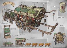 caravan fantasy Fun idea for caravan that would run through the Titan lands Fantasy City, Fantasy House, Fantasy Places, Fantasy Map, Medieval Fantasy, Super Mario Rpg, Fantasy Concept Art, Fantasy Artwork, Rogue Rpg