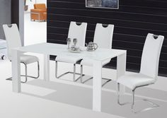 Highly modern and stylish – that's the Jonas dining table. Massive Legs, Rectangle Dining Table, Plates, Stylish, Furniture, Design, Home Decor, Licence Plates, Homemade Home Decor