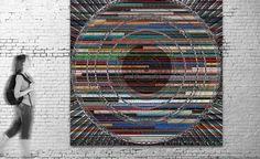 Exposición virtual / Título: LP I (serie Music) / Medida original: 300 x 300 cm / Resolución: 120 p.p. / Formato de imagen: JPEG / Color estándar: CMYK / Peso digital: 729 Mb