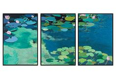 Friedlander, Organic Lily Pads II on OneKingsLane.com  pretty sure I could do this with one of my photographs!