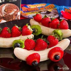 strawberry banana cars | Banana, strawberry race cars