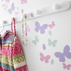 childrens butterfly flutter wall stickers set by kidscapes wall stickers   notonthehighstreet.com