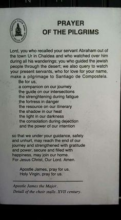 Prayer of the Pilgrims