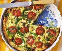 Zucchini, tomato and ricotta bake Ricotta Pie, Baked Ricotta, Small Food Processor, Food Processor Recipes, Vegetable Dishes, Vegetable Pizza, Zucchini Tomato, Spinach And Feta, Meat Lovers