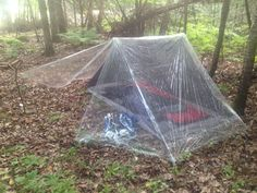 When you go camping, you've chosen to be in nature. So, why are tents always made of opaque materials that separate you from it? My tarp tent offers you a view of shooting stars or thunderstorms from the safety of an ultralight, 2 person sh Camping Diy, Best Tents For Camping, Tent Camping, Camping Hacks, Outdoor Camping, Camping Items, Family Camping, Ultralight Backpacking Gear, Bushcraft Camping