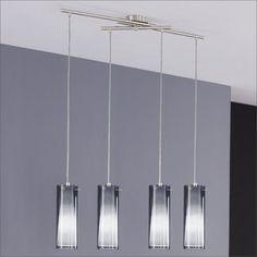 Lampadario moderno acciaio cromo cristallo coni 35 cm lampada sospensione lampadari pinterest - Lampadario moderno cucina ...