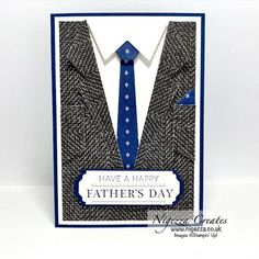Father's Day Blog Hop Happy Fathers Day Images, Fathers Day Cards, Suit Card, Mini Album Tutorial, Fancy Fold Cards, Masculine Cards, Stampin Up Cards, Mini Albums, Blog
