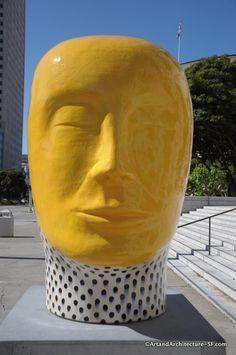 Heads by Jun Kaneko San Francisco Civic Center