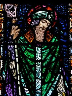 Patrick in stained glass by Harry Clarke Harry Clarke, Christian Missionary, St Joan, Irish Art, Arts And Crafts Movement, Stained Glass Windows, Custom Greeting Cards, Paper Texture, Celtic