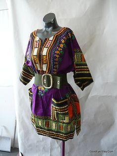 Retro Hippie Clothing   Vintage Dashiki, Hippie Mini Dress, 1960s Mens ...   Sewing - clothing