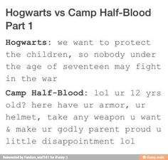 Hogwarts vs Camp Half Blood
