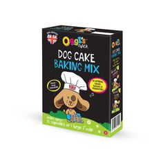 Oggi's Oven is a 100% British manufactured product. It has been designed to bring home-cooked goodness to your pets diet, whilst providing a treat which is both healthy and free from artificial additives or preservatives.  Link: http://www.olliespetboutique.com/oggis-oven-dog-cake-baking-mix-150g