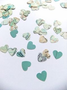 Heart confetti  500 hearts  Table Decoration  by peonyandthistle, £8.50