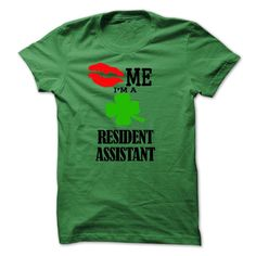 kiss me i am a RESIDENT ASSISTANT T-Shirts, Hoodies. ADD TO CART ==► https://www.sunfrog.com/LifeStyle/kiss-me-i-am-a-RESIDENT-ASSISTANT.html?id=41382