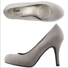 """Fiori Grey Pumps Like new. Grey color. Used once indoor.  3"""" heels. Small spot on left side of one shoe hardly noticeable. Shoes Heels"""