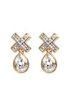 Oscar de la Renta Crystal Marks the Spot Earring