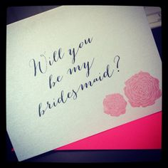 Ask your bridesmaid with this Will you be by UptownDesignsCanada Will You Be My Bridesmaid, Etsy Store, Trending Outfits, Unique Jewelry, Handmade Gifts, Vintage, Kid Craft Gifts, Craft Gifts, Costume Jewelry