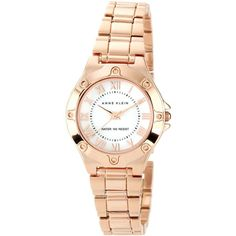 Anne Klein Watch, Women's Rose Gold Tone Bracelet 30mm 10-9818mprg (2,850 PHP) found on Polyvore