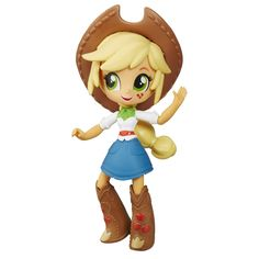 Buy My Little Pony: Applejack Doll at Mighty Ape NZ. This My Little Pony Equestria Girls Minis Applejack doll is fun to pose! Pretend to express the personality of Applejack with this cute mini-doll wit. My Little Pony Dolls, All My Little Pony, Little Pony Party, My Little Pony Applejack, Lalaloopsy, Equestria Girls Minis, Little Poni, My Little Pony Merchandise, Rainbow Dash