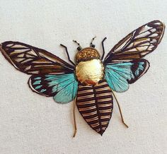 Вот такая канитель: удивительные вышивки Humayrah Poppins - Ярмарка Мастеров - ручная работа, handmade