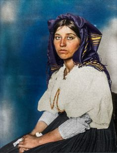 vintage everyday: Beautiful Colorized Photos of Immigrants in Their Traditional Dresses at the Ellis Island Immigration Station in the Early 20th Century