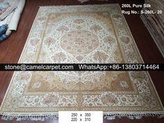 Persian silk on silk carpet #orientalcarpet#orientalrug#kashmircarpet#kashmirrug