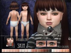 A new skin for toddler sims! Found in TSR Category 'Sims 4 Sets' Source: RemusSirion's Toddler Skin 2 - SET Js Sims 4, The Sims 4 Pc, Sims 4 Mods Clothes, Sims 4 Clothing, Toddler Makeup, Toddler Cc Sims 4, The Sims 4 Bebes, Sims 4 Body Mods, The Sims 4 Skin