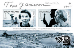 Finland Post Office will release a stamp to celebrate the anniversary of Tove Jansson the world-famous Finnish artist and author. Office Issues, Moomin Shop, Moomin Valley, Tove Jansson, Fuzzy Felt, Sell Stamps, Stamp Catalogue, First Day Covers, Mail Art