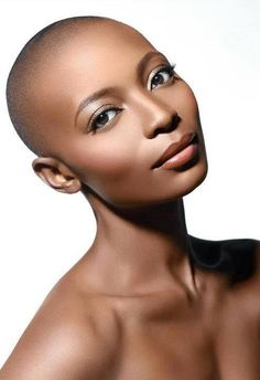 Black is Beautiful Hair Afro, Bald Hair, My Hair, Natural Hair Styles, Short Hair Styles, Art Visage, Pelo Afro, Bald Women, My Black Is Beautiful