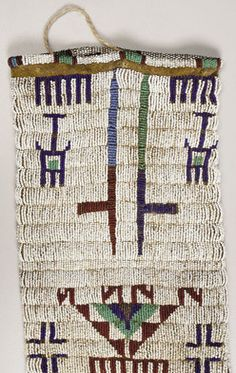 Porcupine quillwork meaning of for the sioux | native american, America, A Sioux pictorial beaded hide tobacco bag ...