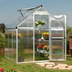 Palram Nature Greenhouse - Twin-Wall - Mythos Series - Greenhouses at Hayneedle 425.28