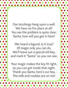 1000+ images about SANTA KEY on Pinterest | Santa key, Poem and Keys
