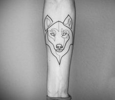 Wolf head tattoo by Mo Ganji - Tattoos One Line Tattoo, Line Art Tattoos, Head Tattoos, Dog Tattoos, Animal Tattoos, Half Sleeve Tattoos Forearm, Circle Tattoos, Trendy Tattoos, Unique Tattoos