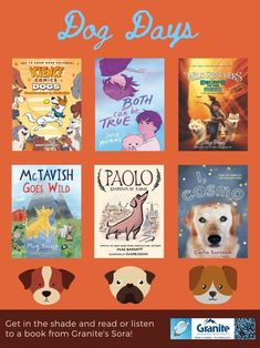 Library Posters, Science News, Sora, School District, Getting To Know You, Book Lists, Dog Days, Bestselling Author, Graphics