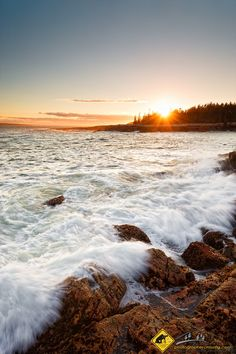 Sunset on the rocks....