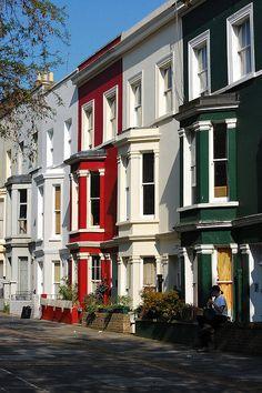 Portobello Road Houses, London Used to live on Portobello Road.  Miss it so!