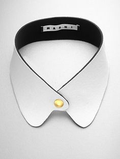 We also love this Marni collar from Fall 20120 collection. New on Saks.com!