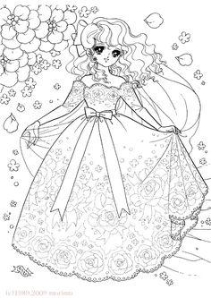 バラのししゅうのドレス