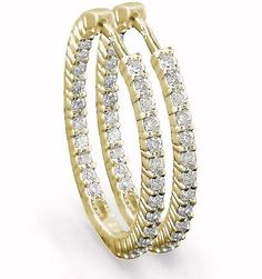 Pix For > Gold Diamond Earrings For Women