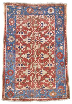 An Oushak 'Lotto' rug, West Anatolia approximately 177 by 124cm; 5ft. 10in., 4ft. 1in. late 16th/early 17th century
