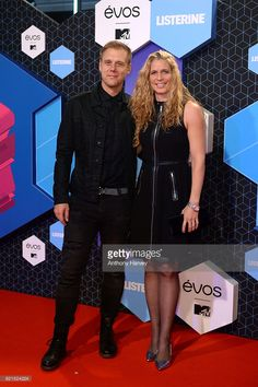 DJ Armin van Buuren with partner Erika van Thiel attend the MTV Europe Music Awards 2016 on November 6, 2016 in Rotterdam, Netherlands.