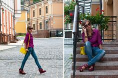 Fall with wine (by Stacey Uliss) http://lookbook.nu/look/3996906-Fall-with-wine