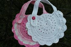 Summerhouse Cottage: Crochet Baby Bibs