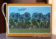stunning Distress Ink card