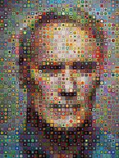 Clint Eastwood in #crochet granny squares digital art