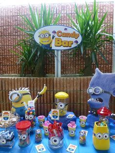minion candy table | catchmyparty.com