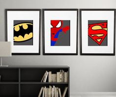 The perfect super hero printable for your little ones room or playroom!  THIS IS FOR 3 (8x10) PRINTS    you pick 3 character prints, and one