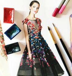 Marchesa fashion illustration