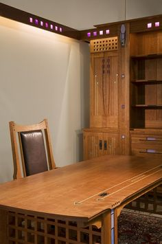 """""""The Ultimate Office"""" by Kevin Rodel Furniture & Design at CustomMade.com.  Detailing and style based on the works of Charles Rennie Mackintosh ."""